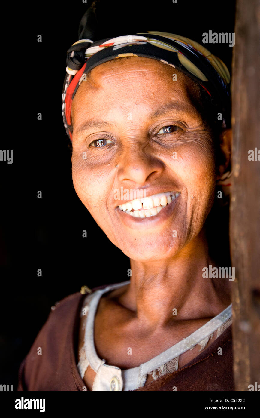 Portrait of Silte tribeswoman, Ethiopia. - Stock Image