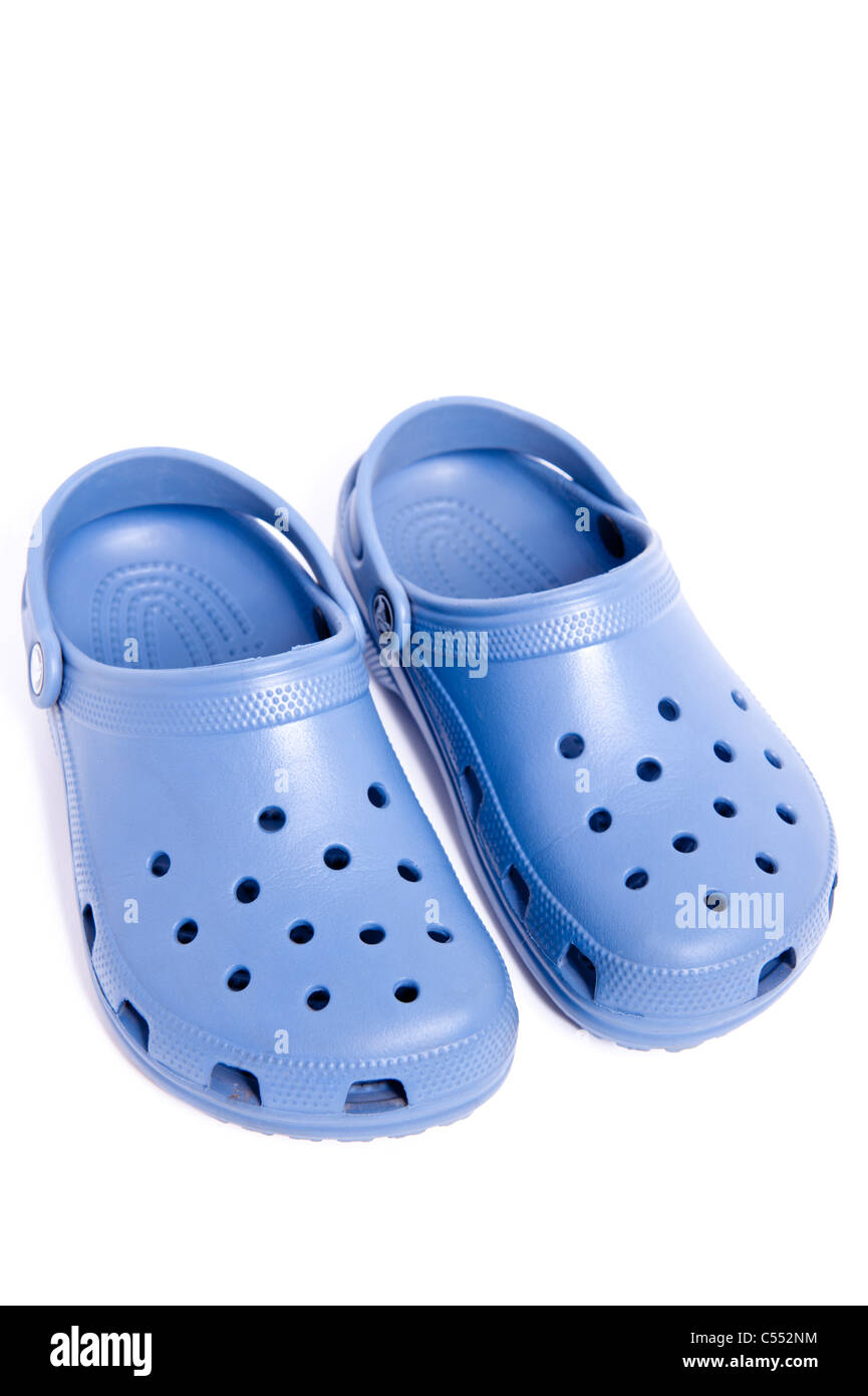 59bbc8c26 A pair of Crocs shoes on a white background Stock Photo  37605952 ...