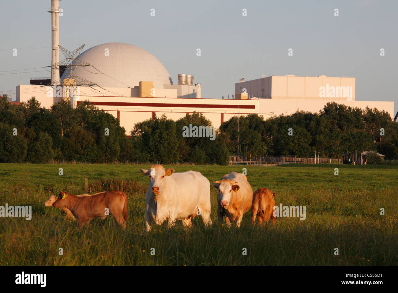 nuclear power station in Brokdorf, Germany Stock Photo
