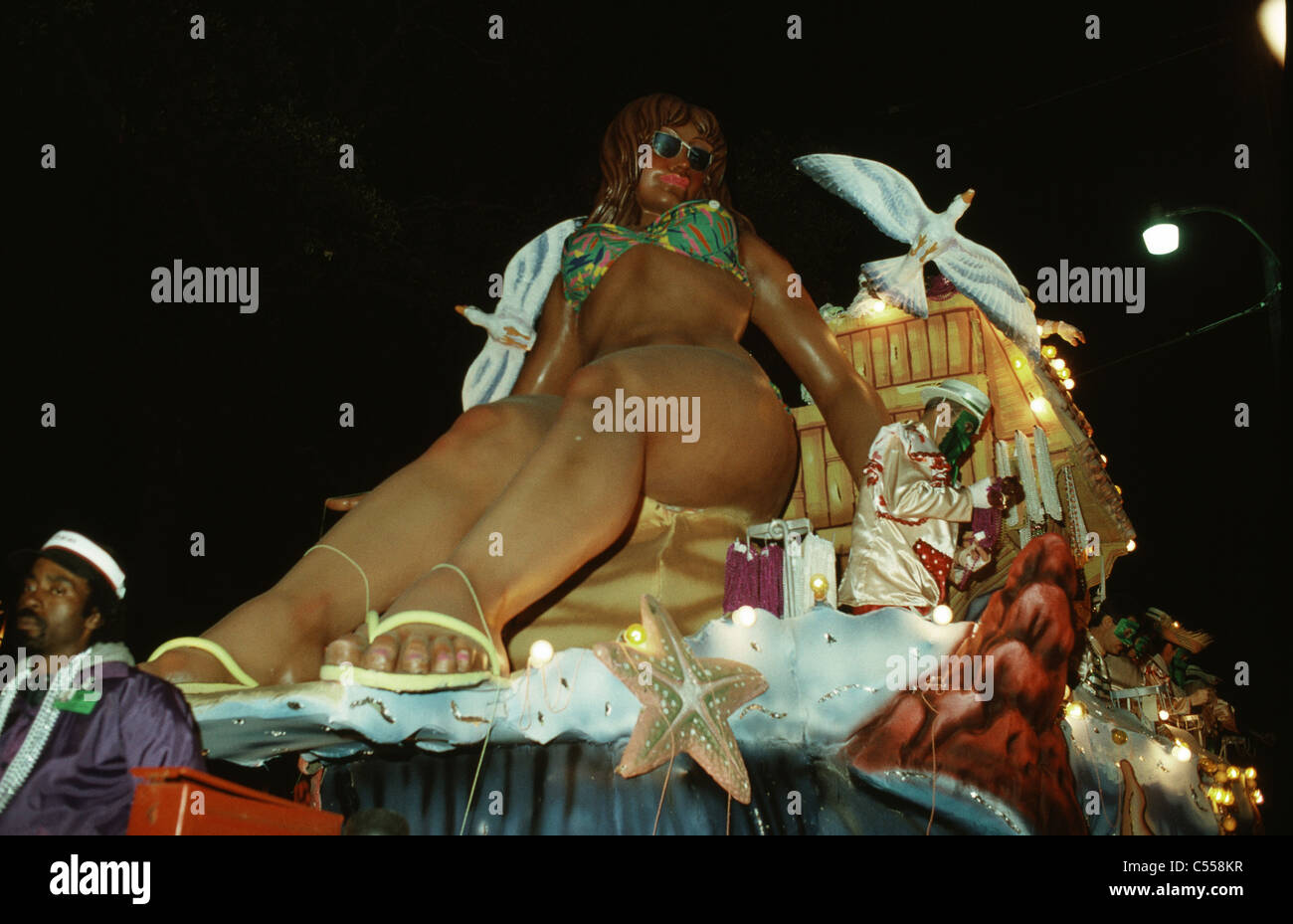 USA, Louisiana, New Orleans, Mardi Gras carnival celebration - Stock Image