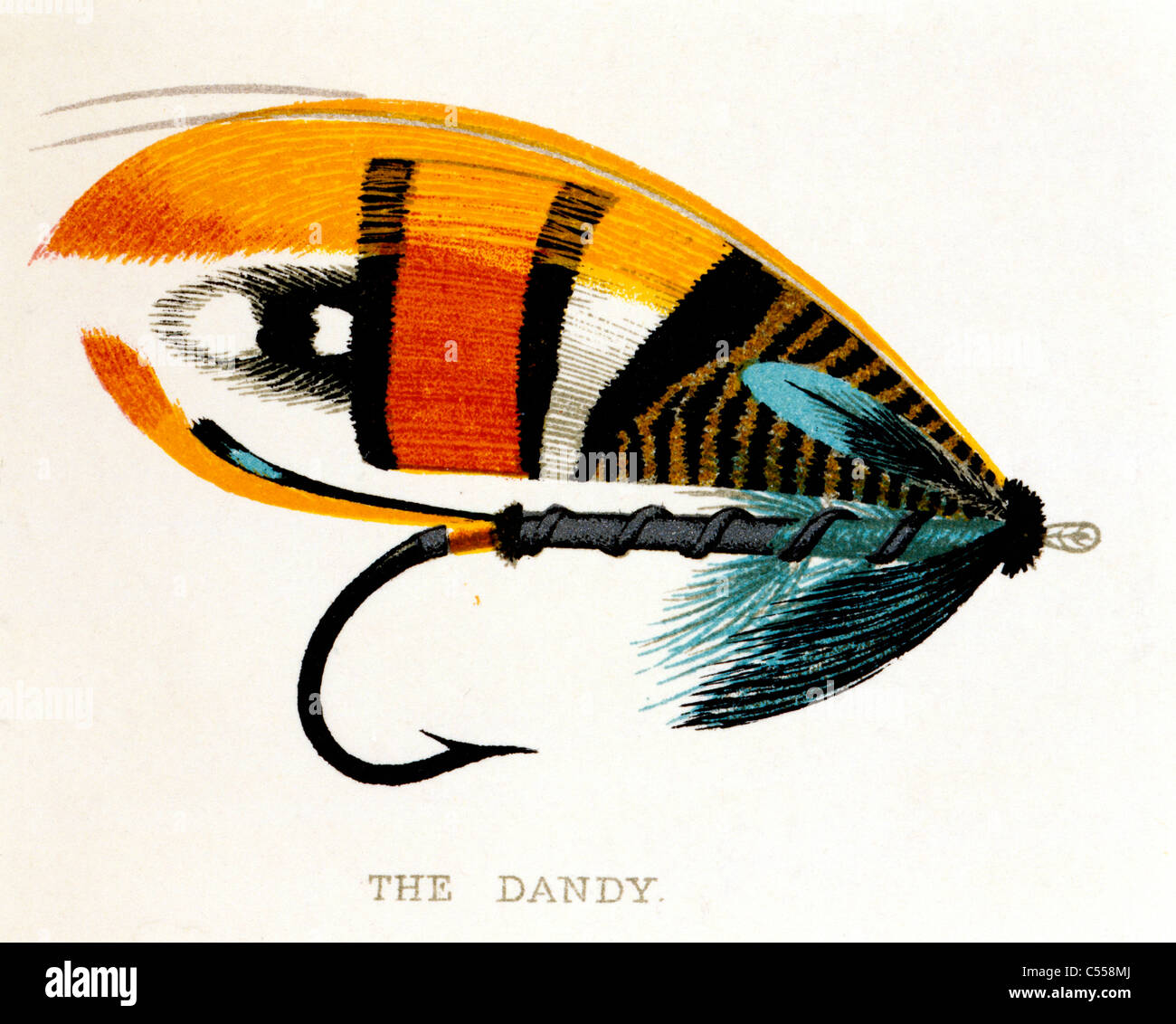 The Dandy Salmon Fly - Stock Image