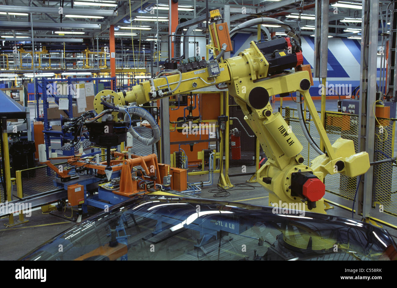 Windshield Assembly General Motors Assembly Plant St. Therese Quebec, Canada - Stock Image