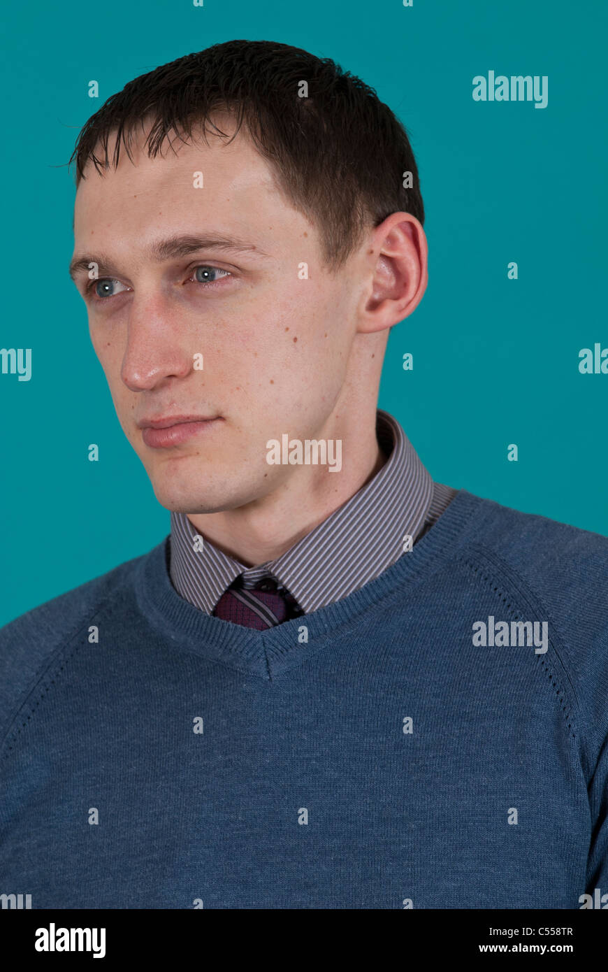 Young polish man looking away Stock Photo - Alamy