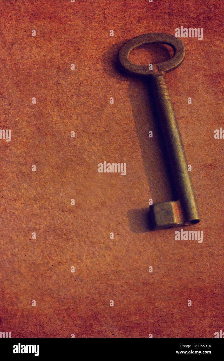 Old rusting metal key - Stock Image