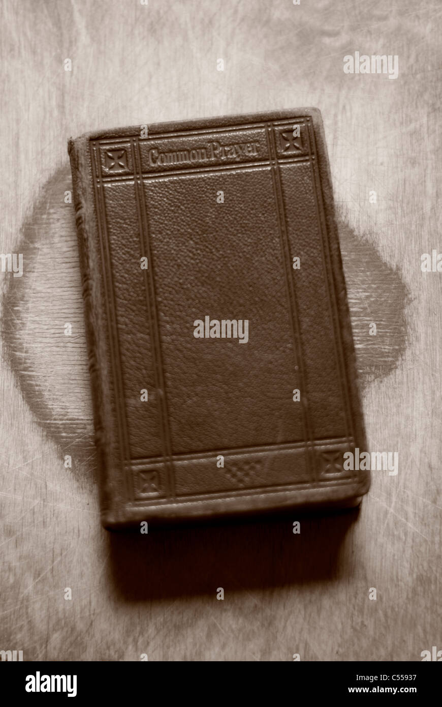 Old common prayer book - Stock Image