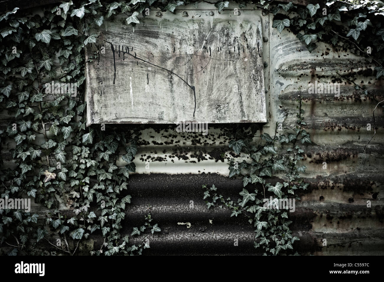 Ventilation of a corrugated iron shed - Stock Image