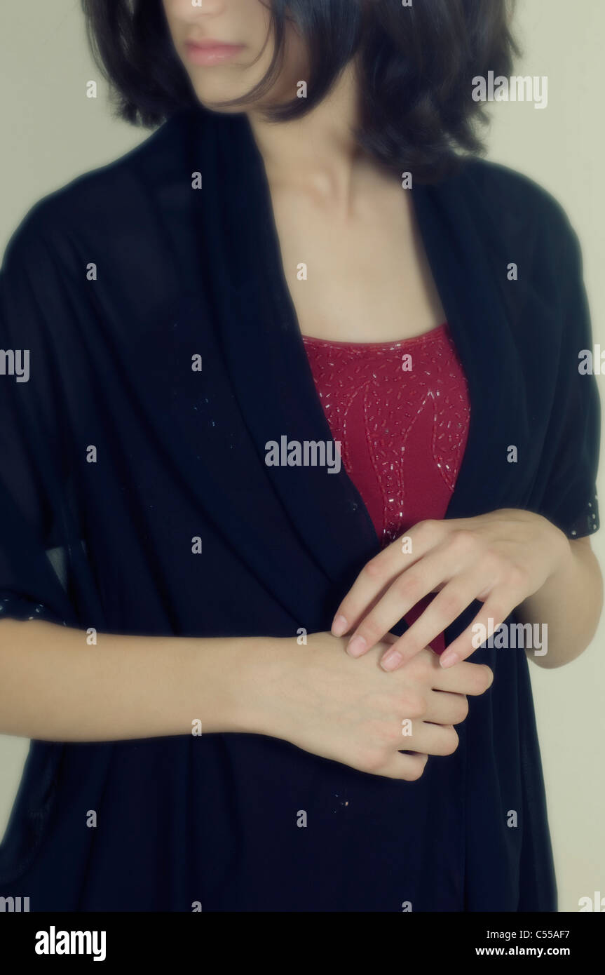 Young woman yearning - Stock Image