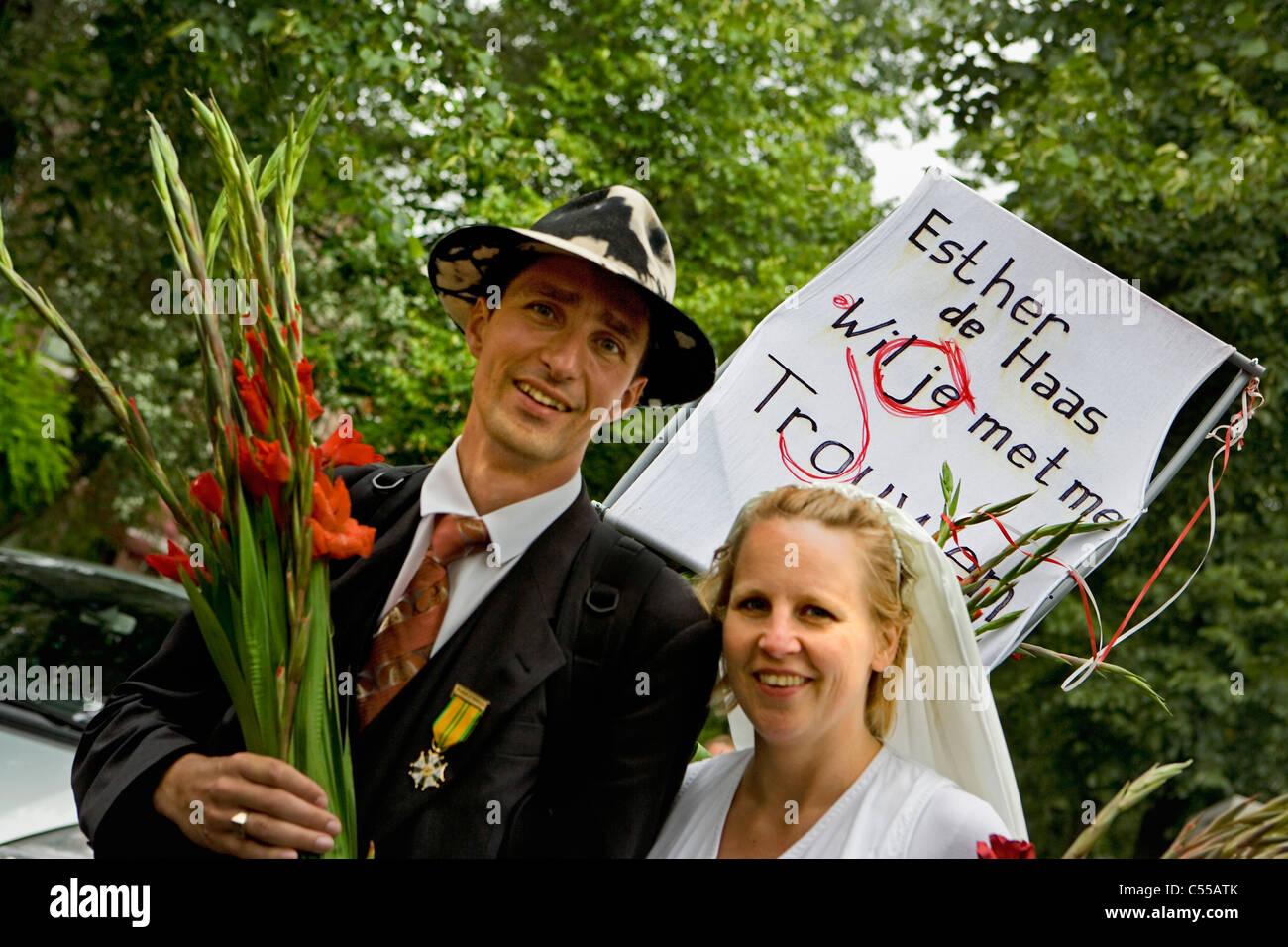 The Netherlands Nijmegen The Nijmegen Four Day Walk Man Asking Girlfriend To Get Married