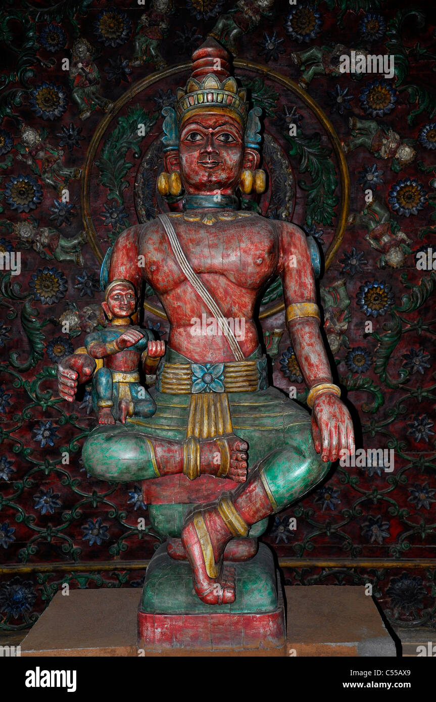 Antique idol of an Indian deity - Stock Image