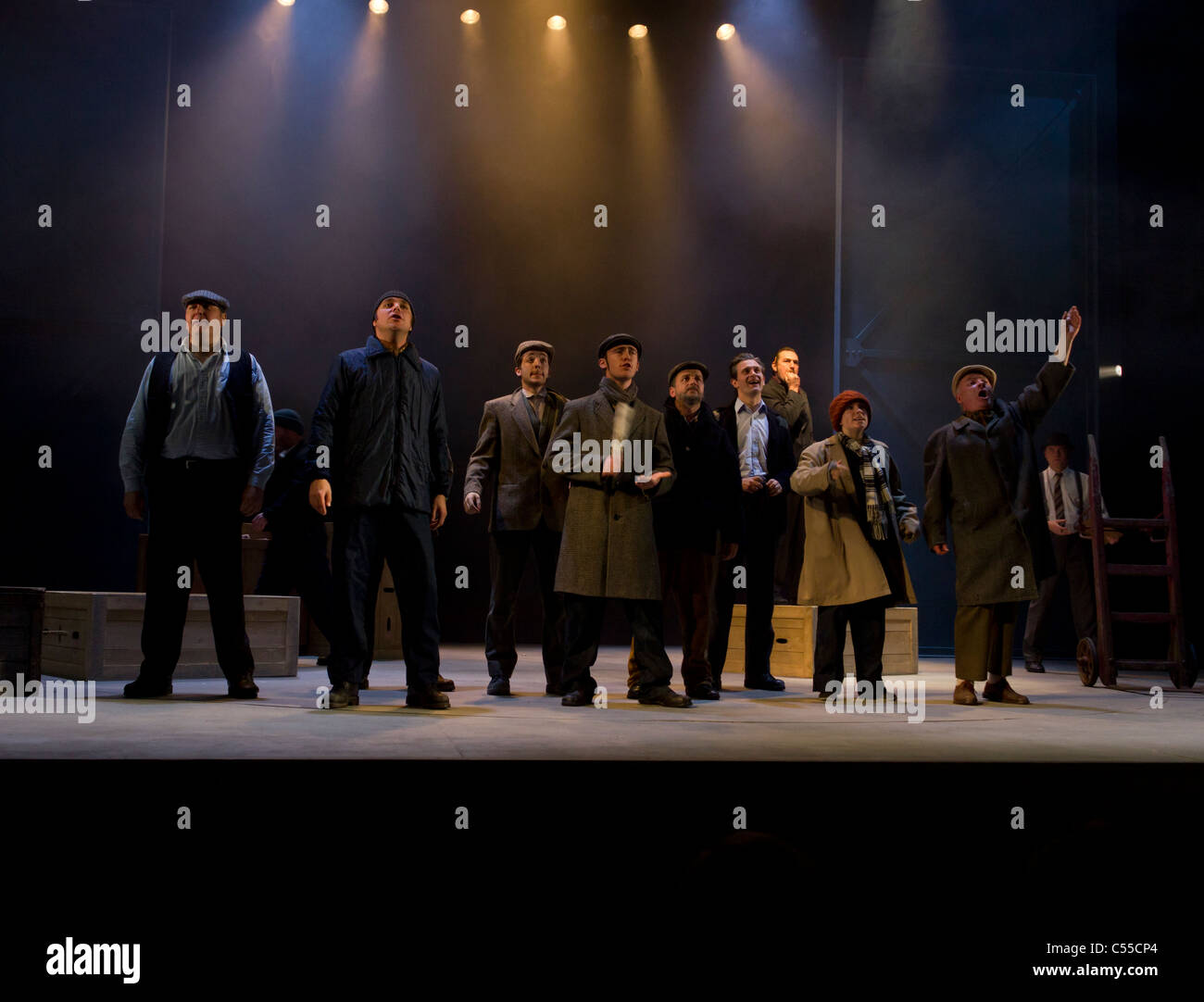 30th Anniversary production of Dockers by Martin Lynch at the Lyric Theatre Belfast, Northern Ireland, UK - Stock Image