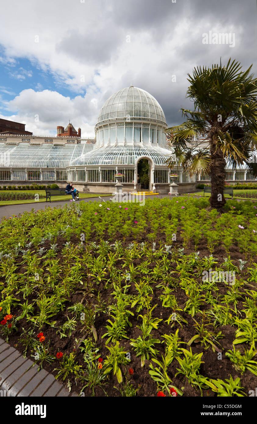 Palm House, Botanic Gardens, Belfast, Northern Ireland, UK - Stock Image