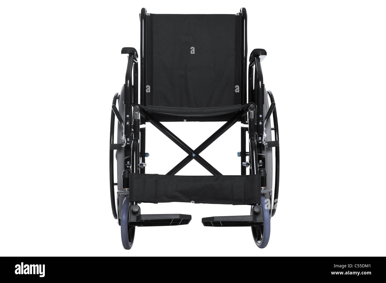Photo of a wheelchair isolated on white with a very detailed clipping path. - Stock Image