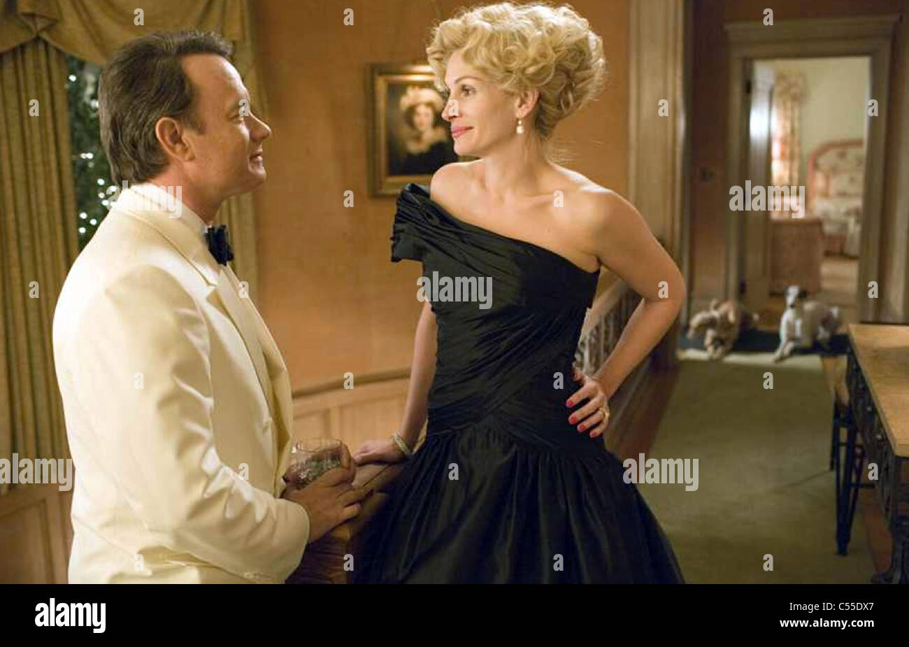 CHARLIE WILSON'S WAR 2007 Universal Pictures film with Tom Hanks and Julia Roberts - Stock Image