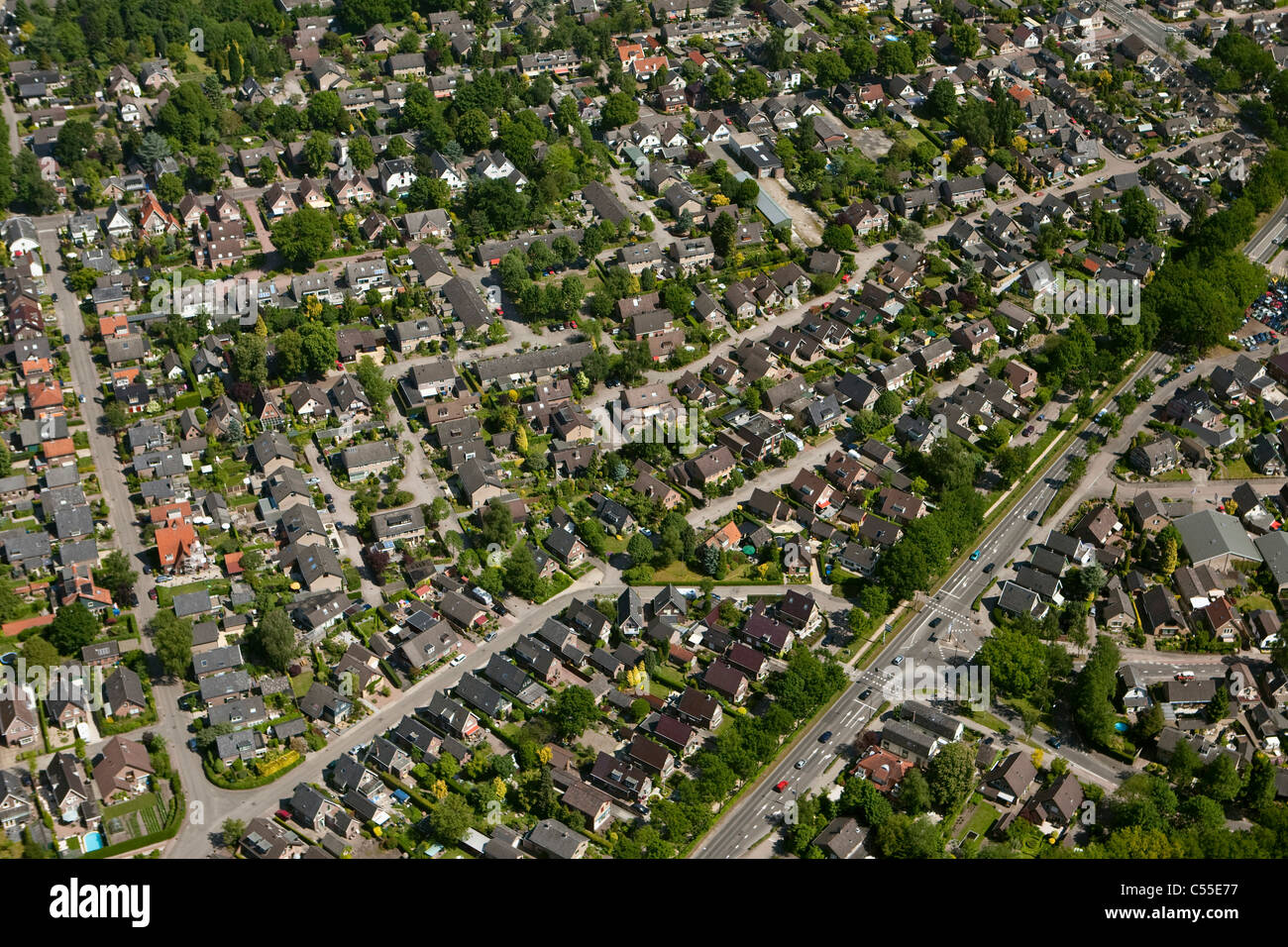 The Netherlands, Apeldoorn, residential area, aerial. - Stock Image