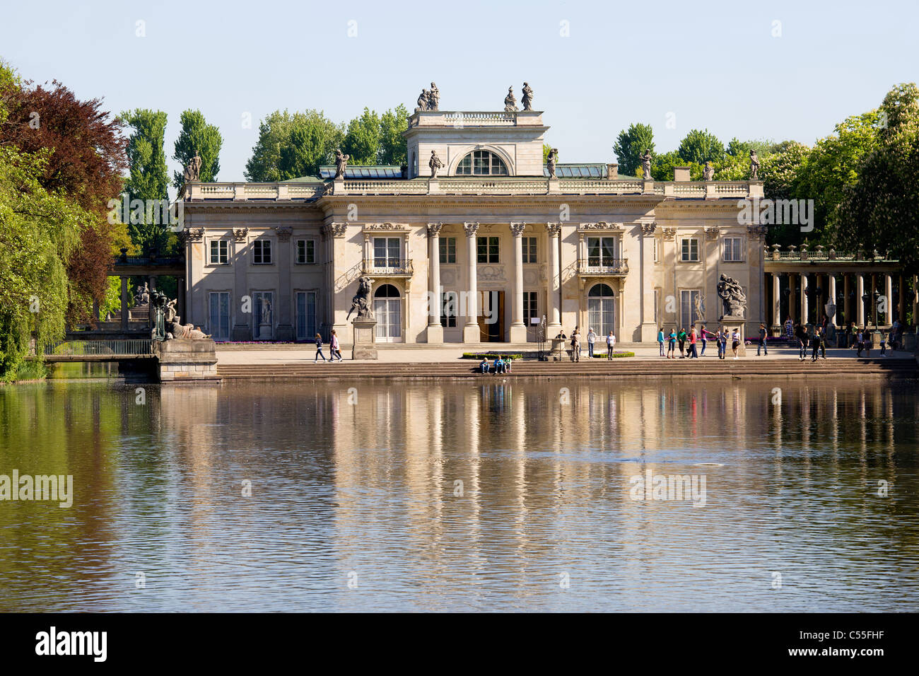 Palace On The Water Also Called Lazienki Palace In Lazienki