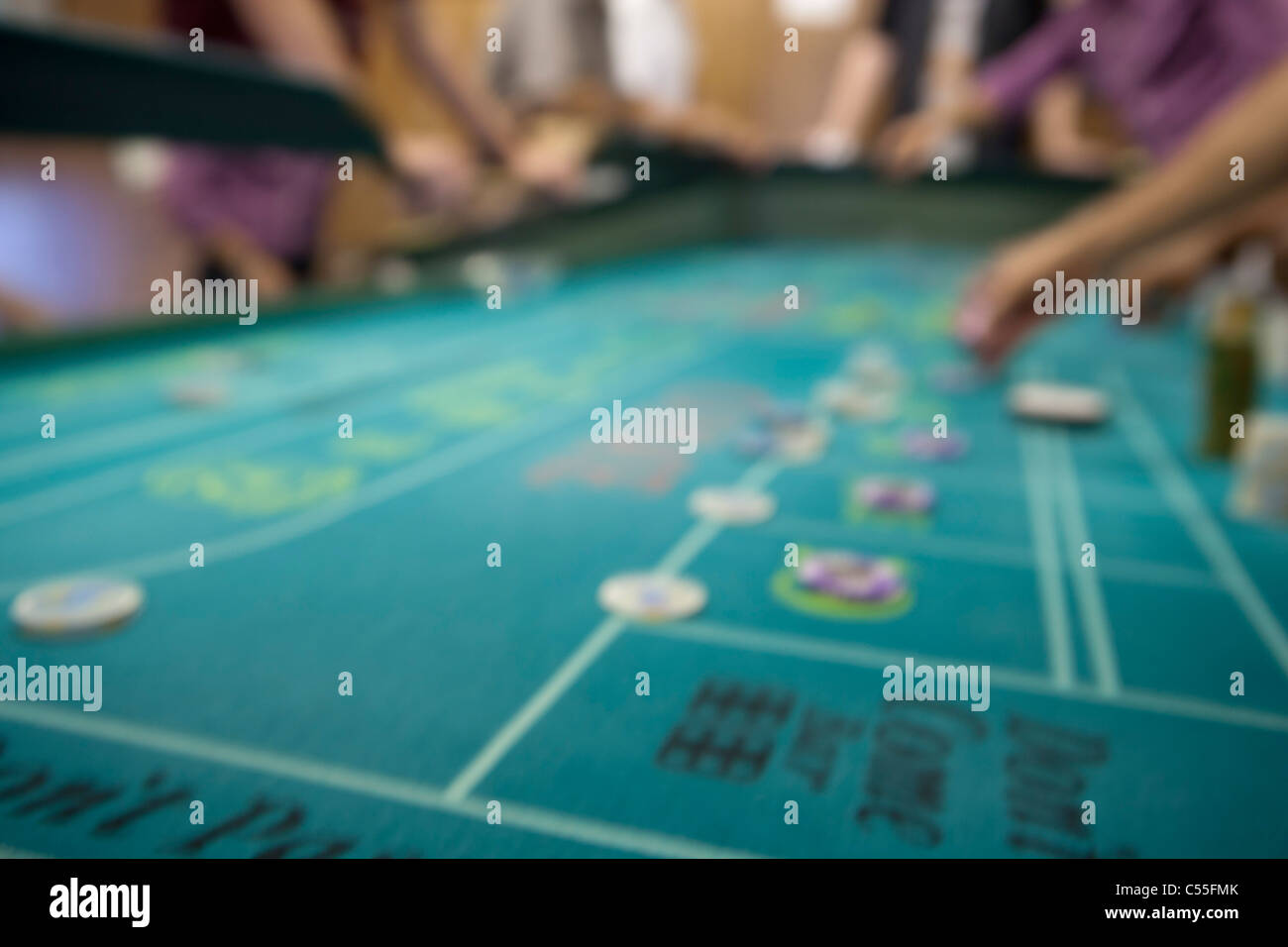 Out of focus roulette table Stock Photo