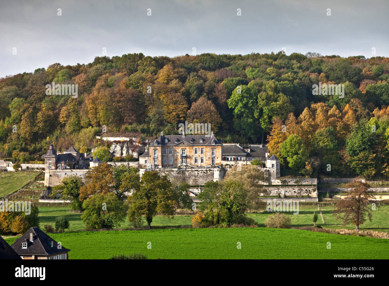 The Netherlands, Maastricht, Castle called Neercanne. - Stock Image