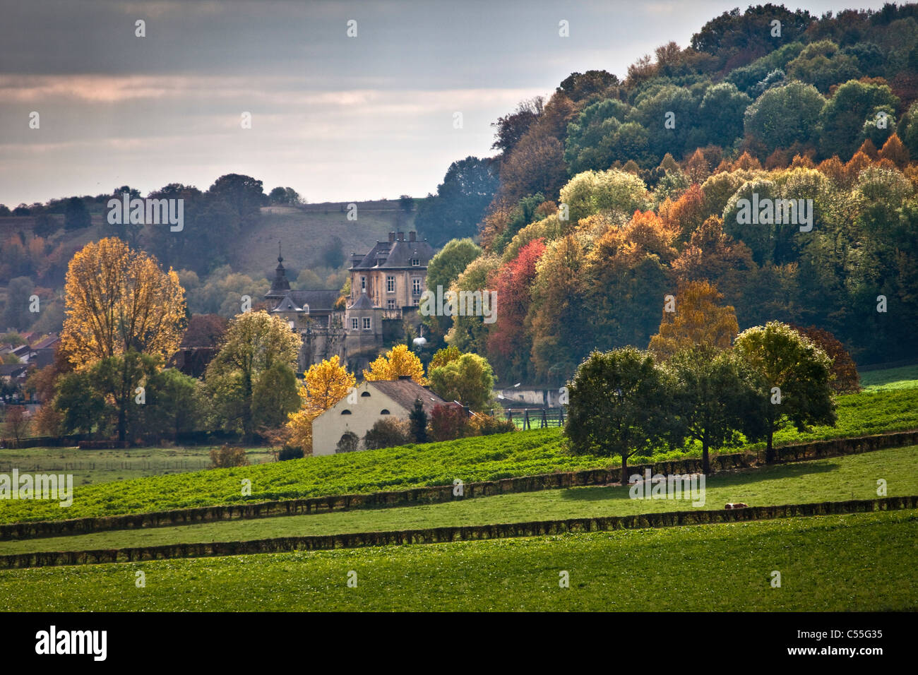 The Netherlands, Maastricht, Castle called Neercanne - Stock Image