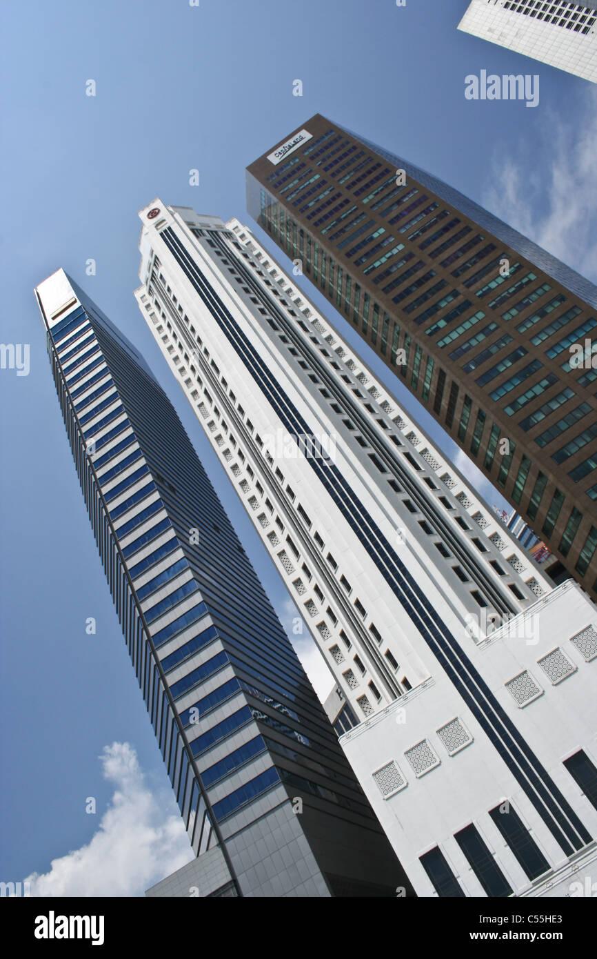 Singapore skyscrapers CBD Financial Institutions - Stock Image