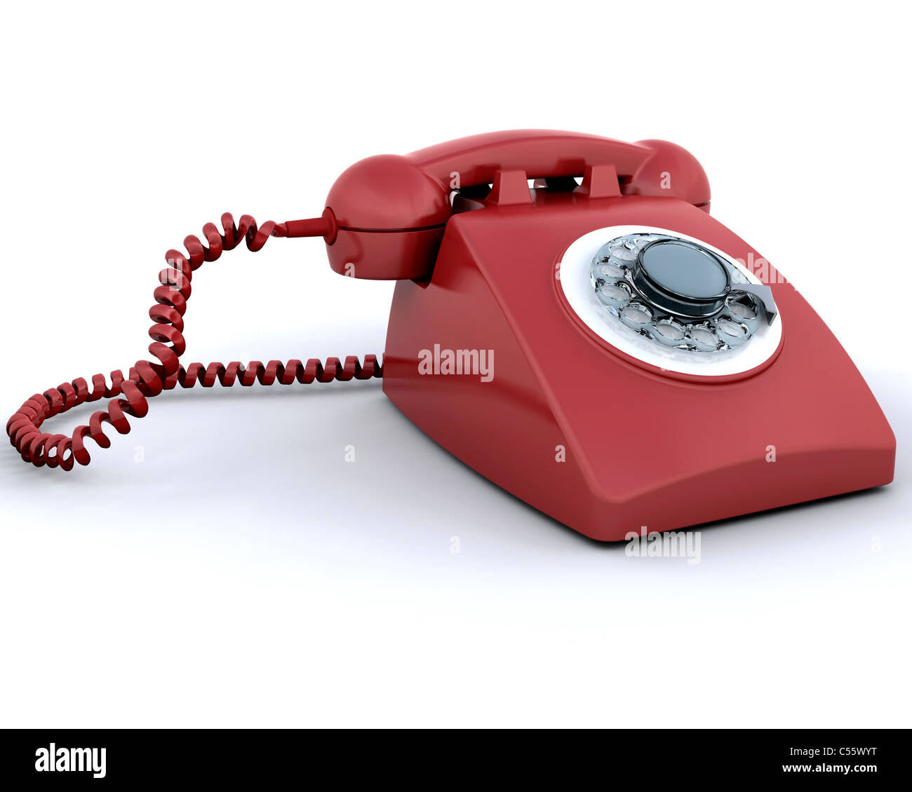 Retro styled telephone - Stock Image