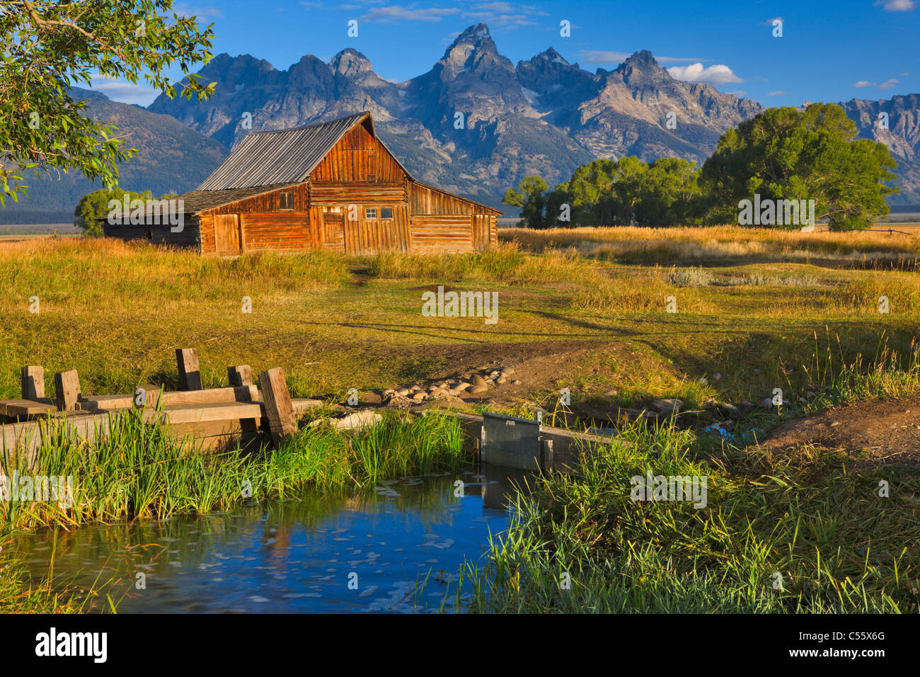 Usa Wyoming Grand Teton National Park T A Moulton Barn