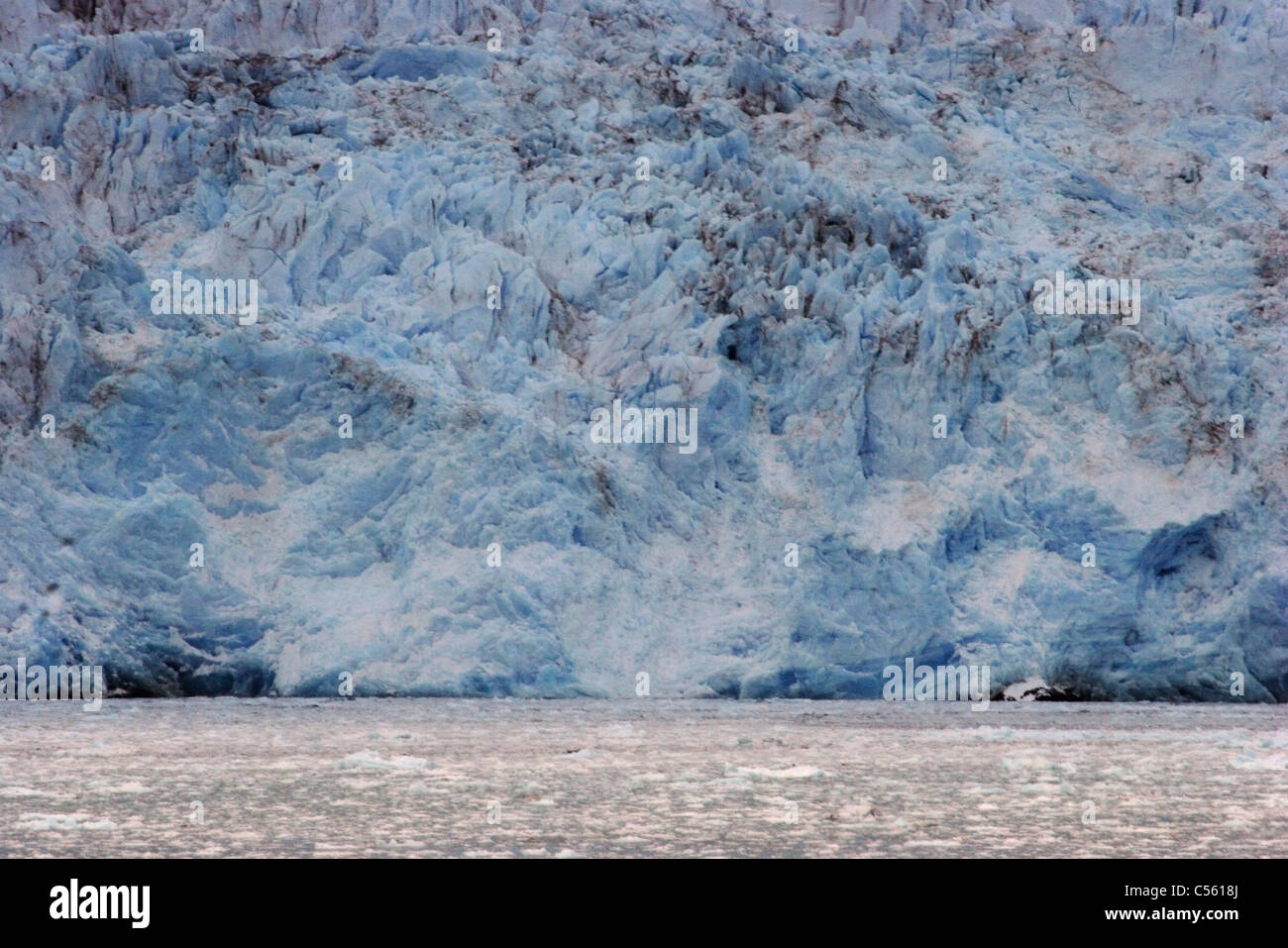 Glacier at ocean side, Amalia Glacier, Bernardo O'Higgins National Park, Patagonia, Chile - Stock Image