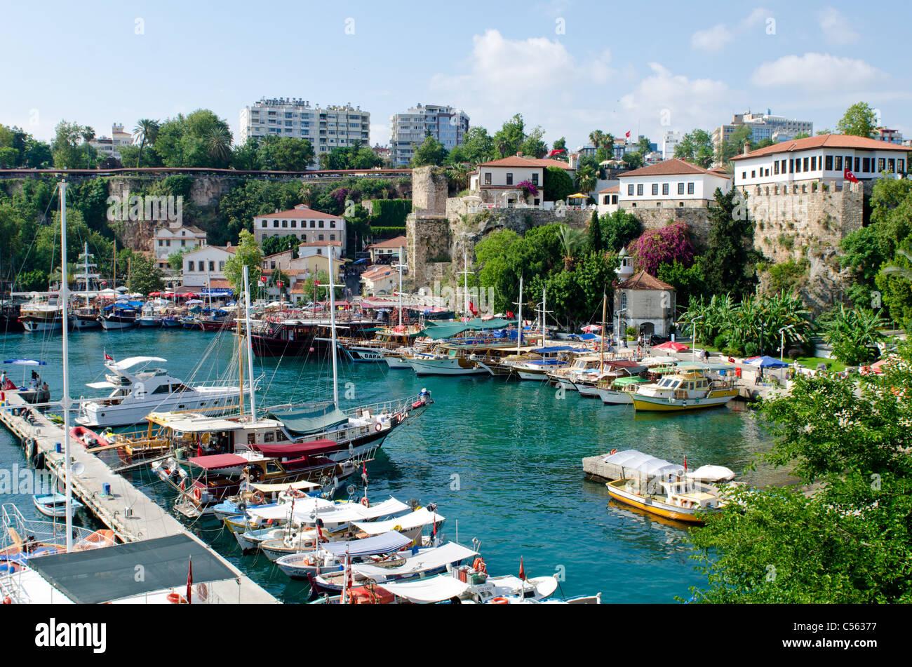 Antalya harbor Turkey - Stock Image