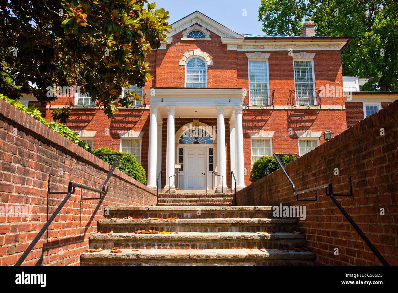 Historic Dumbarton House museum and headquarters of the National Society of Colonial Dames of America, Washington - Stock Image