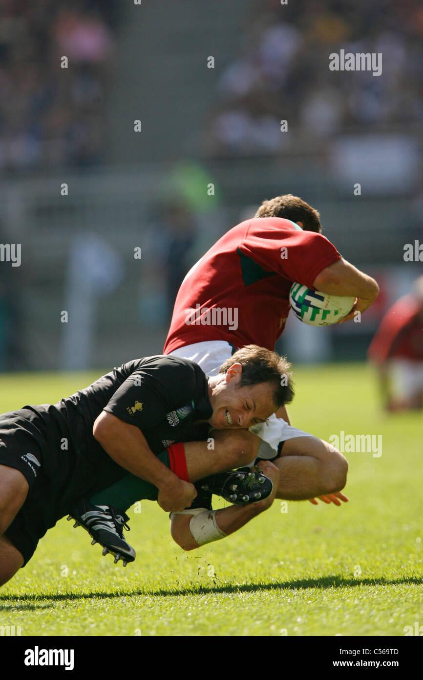 Leon MacDONALD Rugby World Cup 2007 New Zealand v Portugal Stade de Gerland / Lyon/ France 15.09.07 Stock Photo