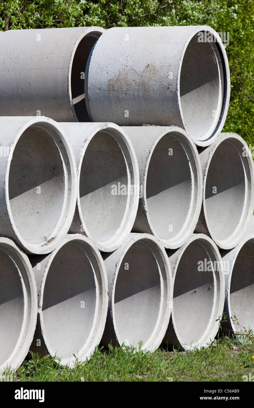Concrete Well Rings Drainage Pipes Stock Photo 37633885