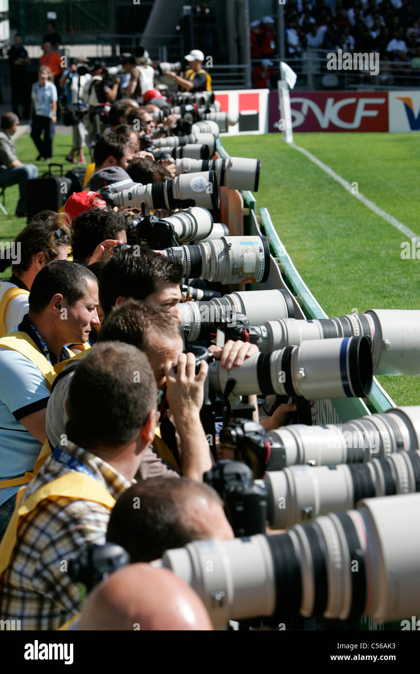 Photographes Rugby World Cup 2007 New Zealand v Portugal Stade de Gerland / Lyon/ France 15.09.07  Stock Photo
