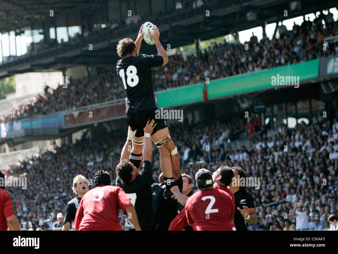 Carl HAYMAN Rugby World Cup 2007 New Zealand v Portugal Stade de Gerland / Lyon/ France 15.09.07 Stock Photo