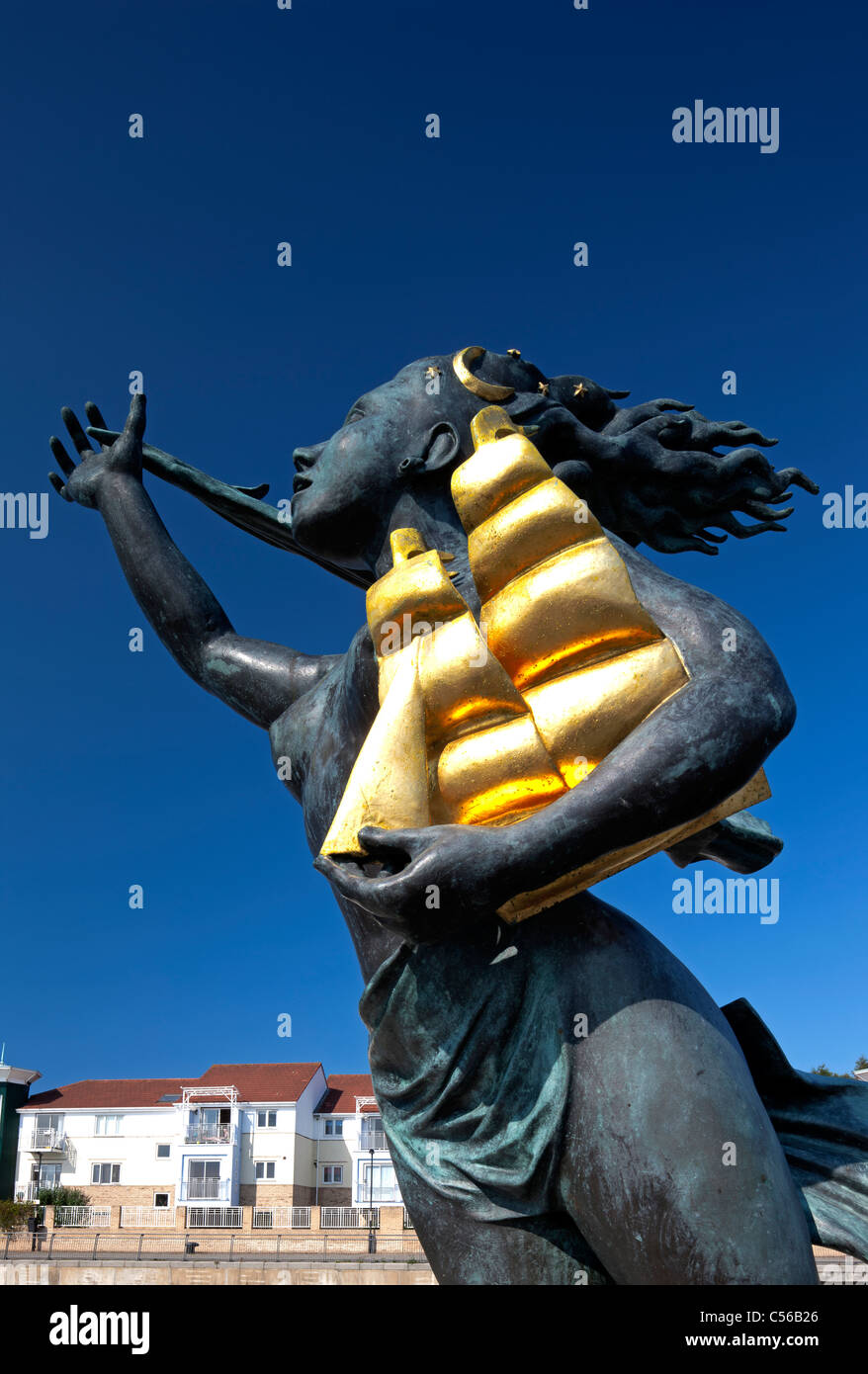 The Spirit of South Shields statue, by Irene Brown, South Shields, Tyne and Wear - Stock Image