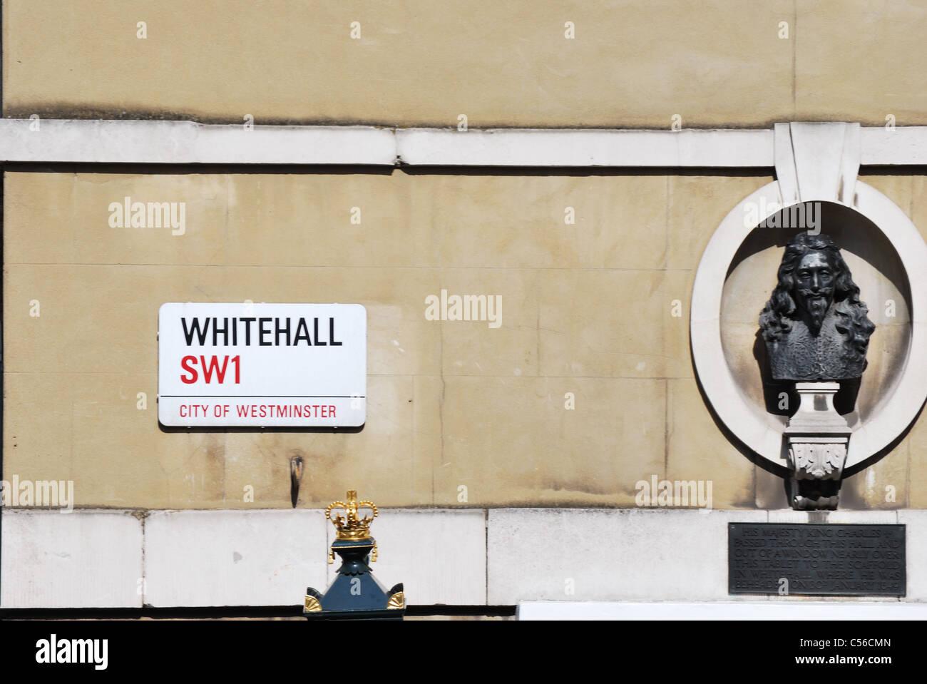 Whitehall street sign - Stock Image