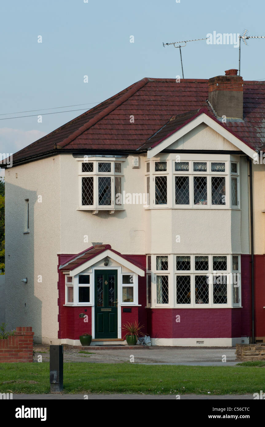 Semi detached house in the London borough of Enfield. UK Stock Photo