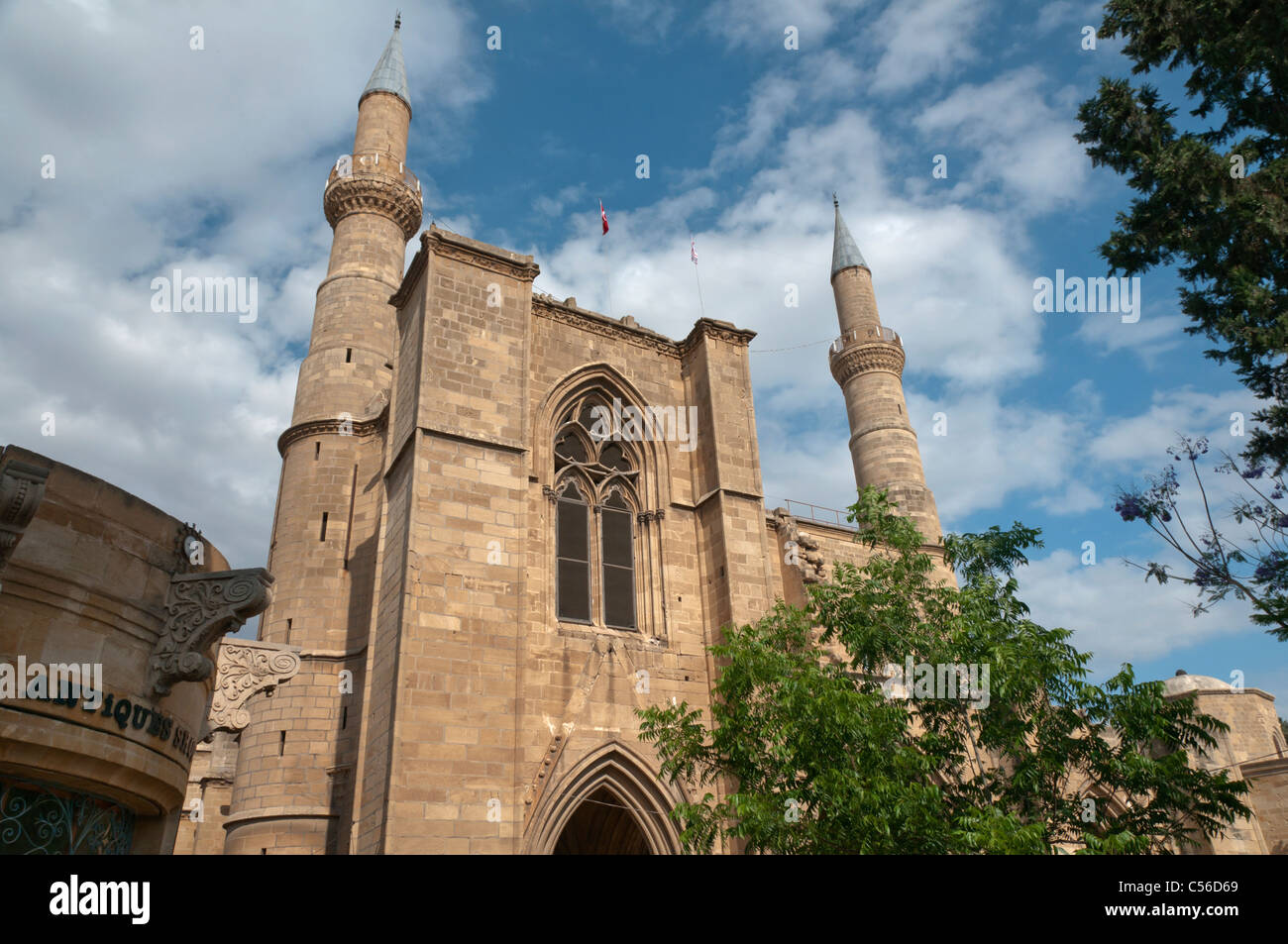 Selimiye Mosque formerly St Sophia Cathedral,Nicosia,Lefkosa,Turkish Republic of Northern Cyprus - Stock Image