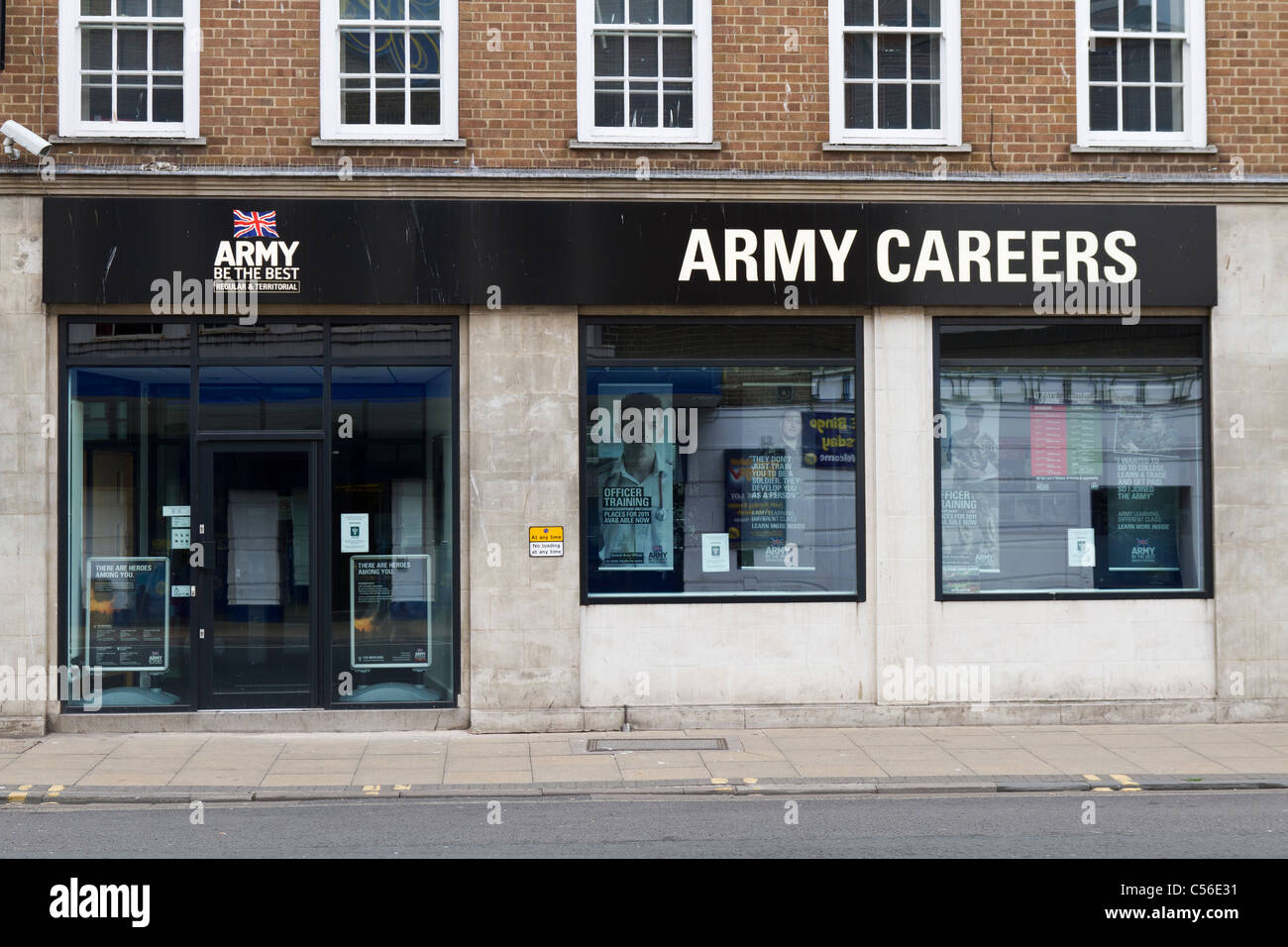 An Army careers information office Stock Photo