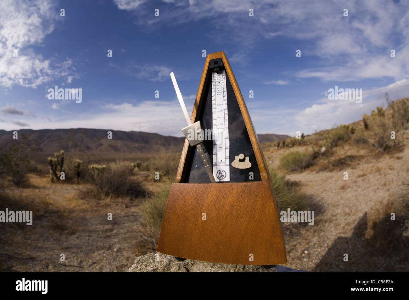 Metronome in Desert, USA - Stock Image