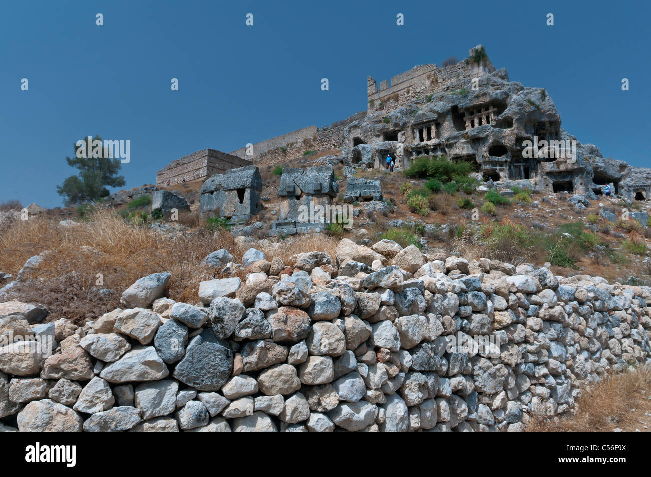 Tlos is known to have been one of the most important religious centers of the Lycian region in Antalya province - Stock Image