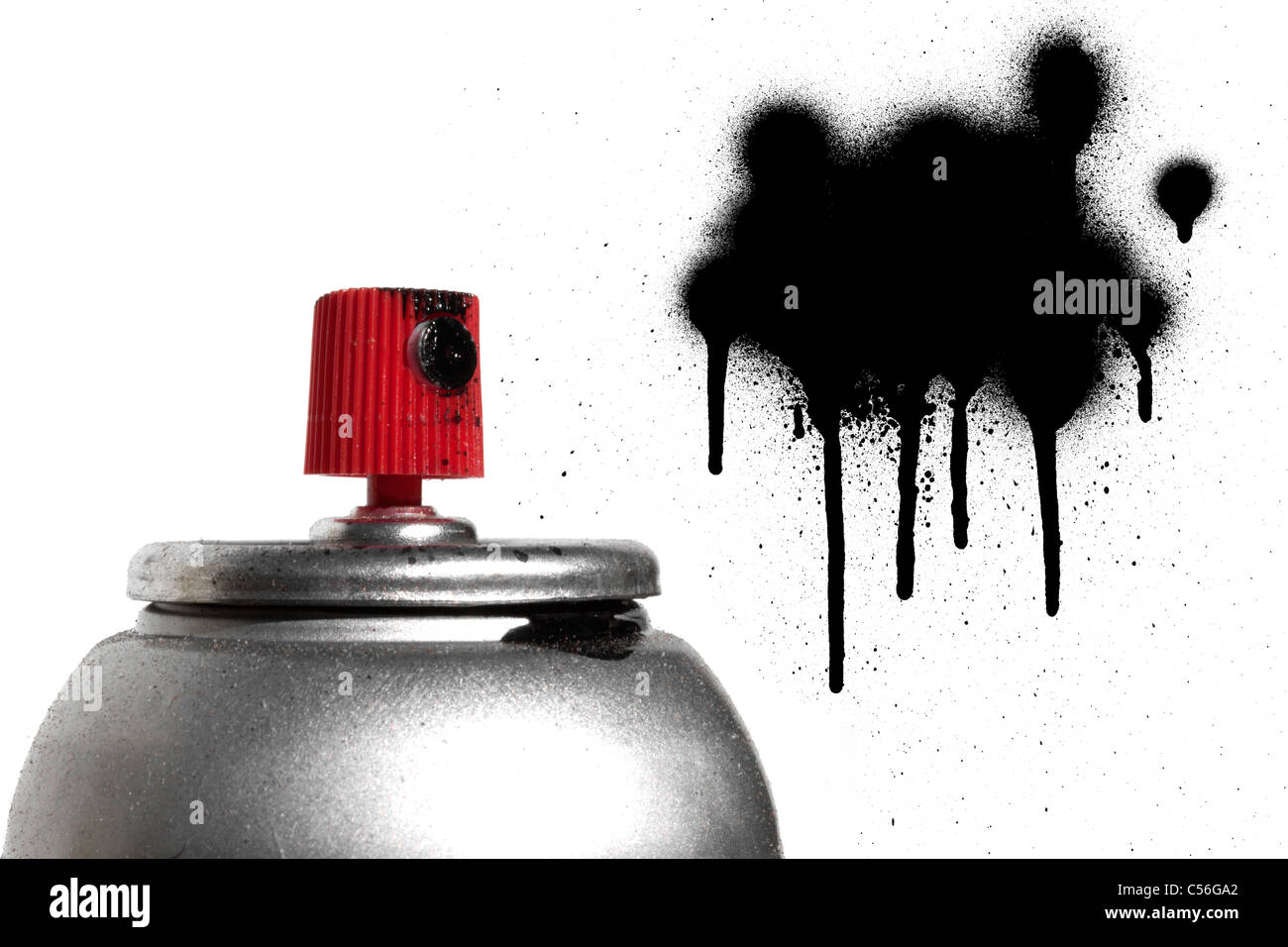 Graffiti spray paint can - Stock Image