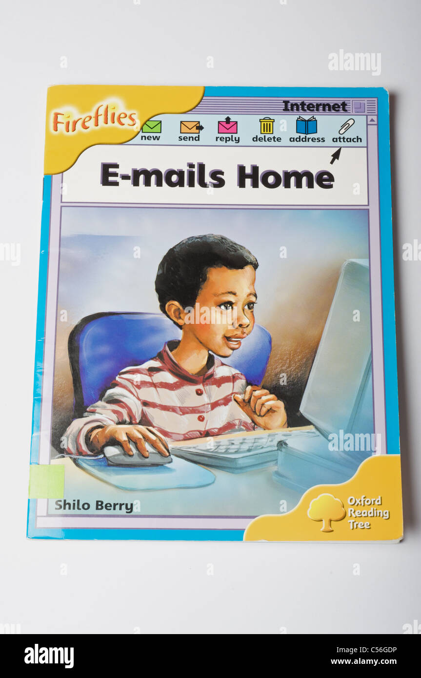 Fireflies E-mails Home text book - Stock Image