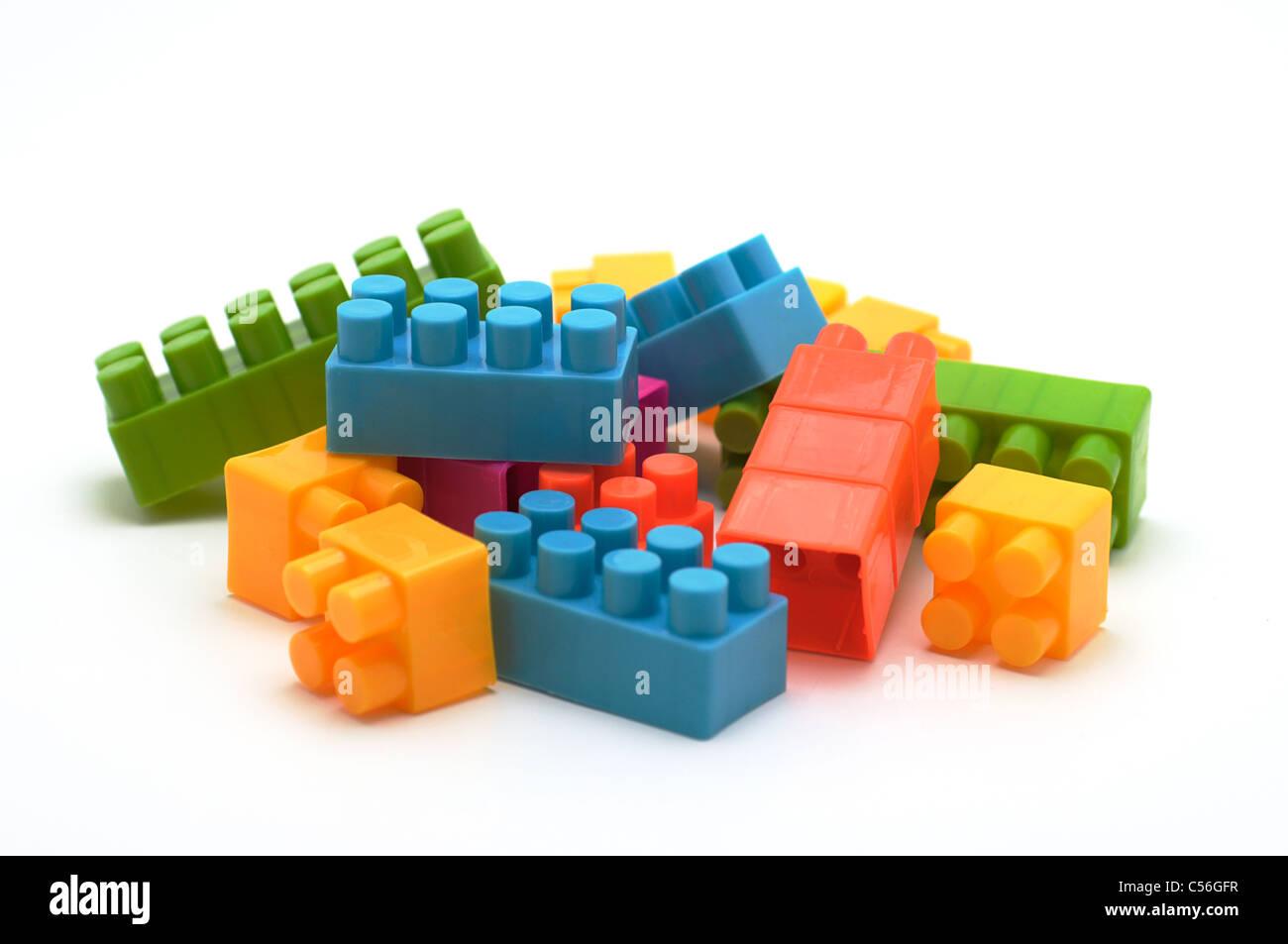 Building Blocks, Plastic - Stock Image