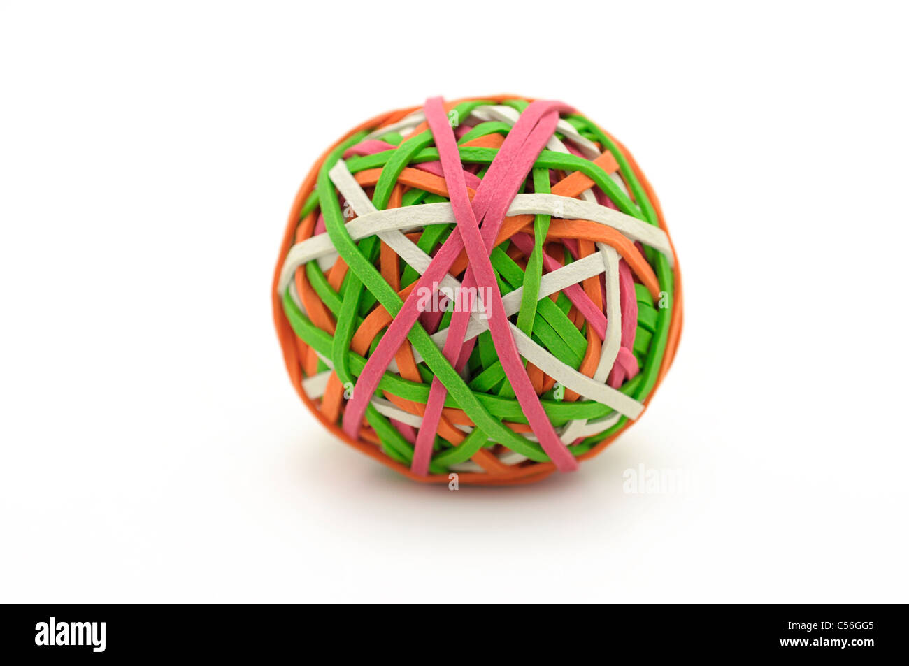 Rubber / Elastic Bands, Ball - Stock Image
