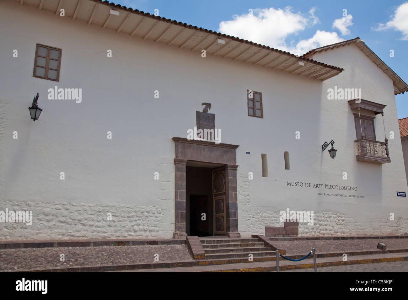 Museo de Arte Pre-Colombino (Museum of Pre-Colombian Art), Cusco, Peru - Stock Image