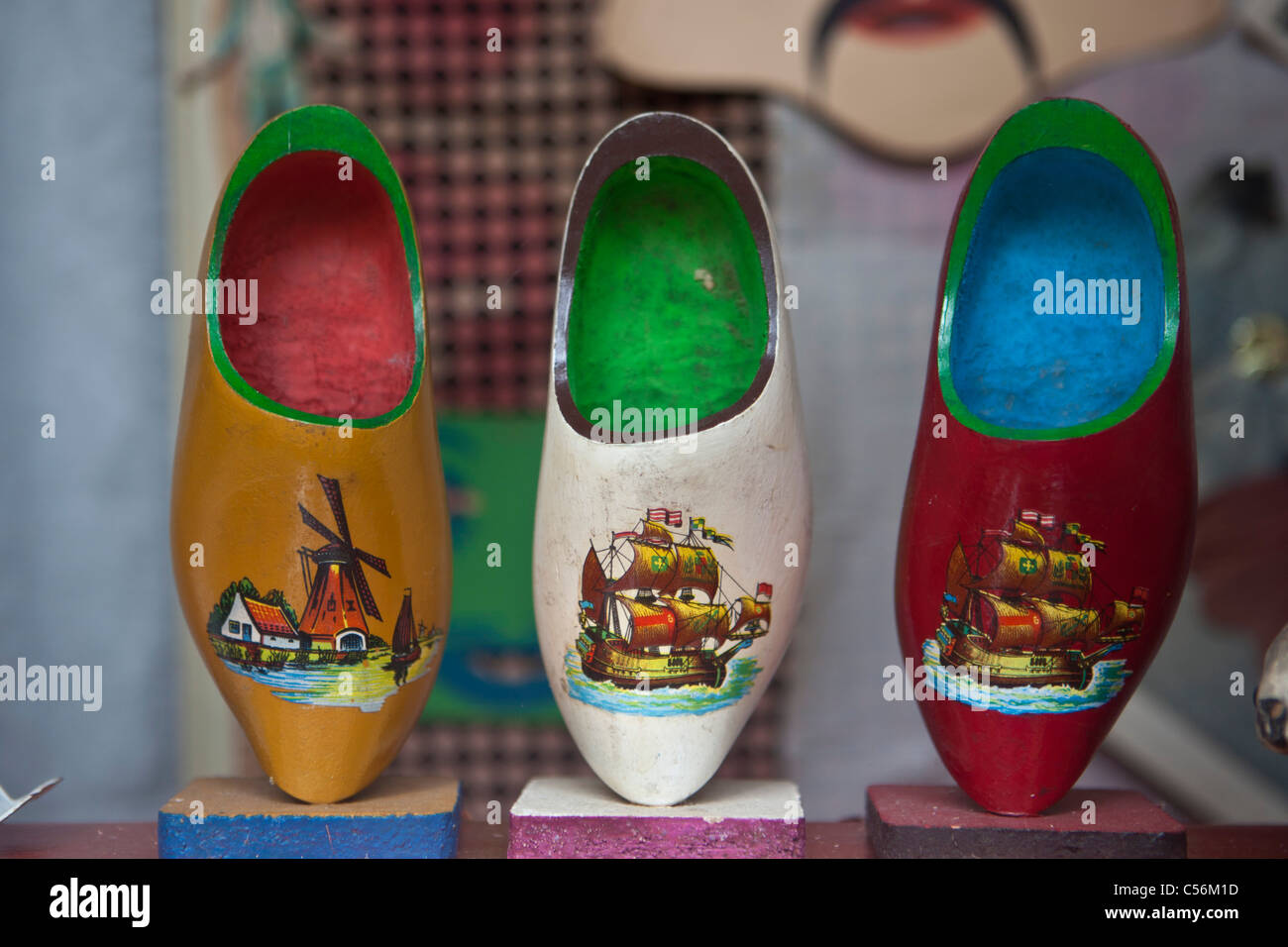 Colorful Wooden Shoes Stock Photos Colorful Wooden Shoes Stock