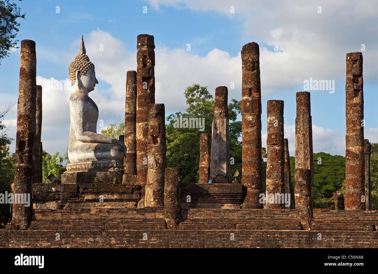 Wat Sa Si, Sukhothai, Thailand - Stock Image