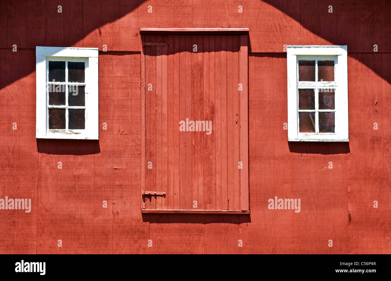 red and white barn doors. Rustic Red Barn Door With Two White Wood Windows And Doors O