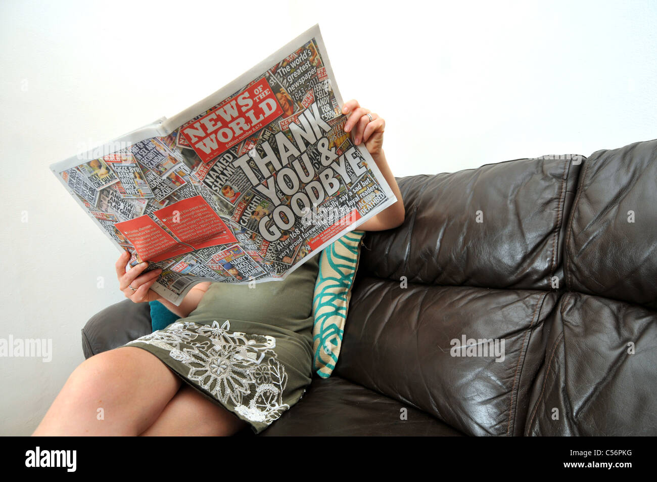 UK, Last ever publication of News of the World newspaper which is closing after 168 years - Stock Image