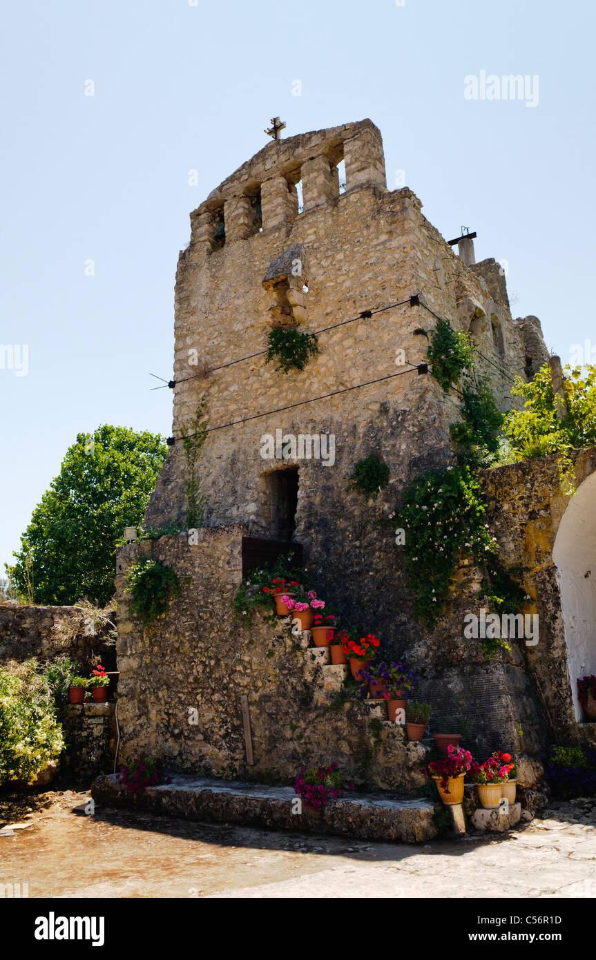 Monastery of Panagia Anafonitria, Volimes, Zakinthos Stock Photo