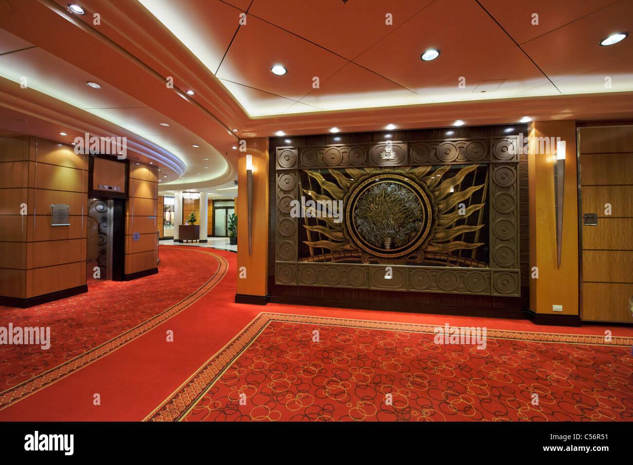 Cruise ship interior hallway stock photos & cruise ship interior